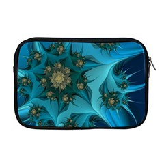 Fractal Flower White Apple Macbook Pro 17  Zipper Case by amphoto