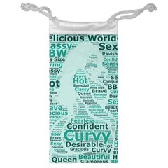 Belicious World Curvy Girl Wordle Jewelry Bag by beliciousworld