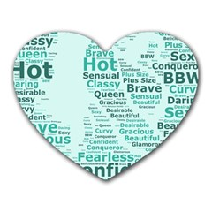 Belicious World Curvy Girl Wordle Heart Mousepads by beliciousworld