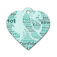 Belicious World Curvy Girl Wordle Dog Tag Heart (two Sides) by beliciousworld