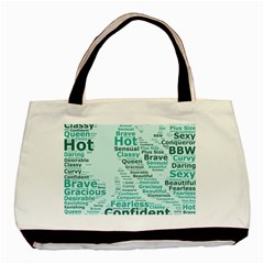 Belicious World Curvy Girl Wordle Basic Tote Bag (two Sides) by beliciousworld