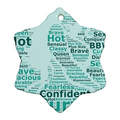 Belicious World Curvy Girl Wordle Snowflake Ornament (two Sides) by beliciousworld