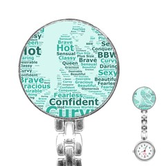 Belicious World Curvy Girl Wordle Stainless Steel Nurses Watch by beliciousworld