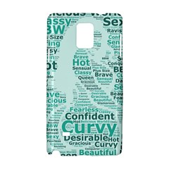 Belicious World Curvy Girl Wordle Samsung Galaxy Note 4 Hardshell Case by beliciousworld