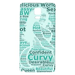 Belicious World Curvy Girl Wordle Galaxy Note 4 Back Case by beliciousworld