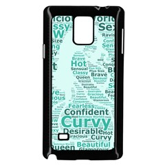 Belicious World Curvy Girl Wordle Samsung Galaxy Note 4 Case (black) by beliciousworld