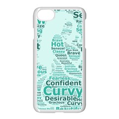 Belicious World Curvy Girl Wordle Apple Iphone 7 Seamless Case (white)