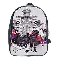Figure Circle Triangle School Bag (xl) by amphoto