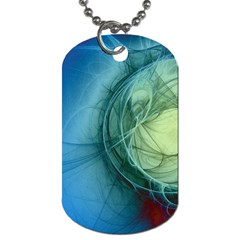 Connection Ball Light  Dog Tag (two Sides) by amphoto