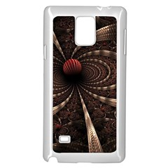Circles Spheres Lines  Samsung Galaxy Note 4 Case (white) by amphoto