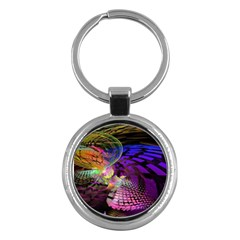 Fractal Patterns Background  Key Chains (round)  by amphoto