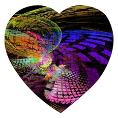 Fractal Patterns Background  Jigsaw Puzzle (heart) by amphoto