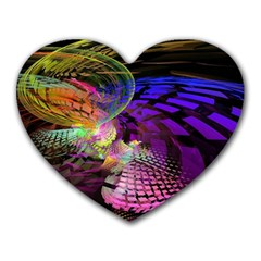 Fractal Patterns Background  Heart Mousepads by amphoto