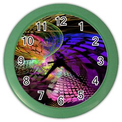 Fractal Patterns Background  Color Wall Clocks by amphoto