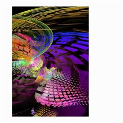 Fractal Patterns Background  Small Garden Flag (two Sides) by amphoto