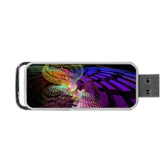 Fractal Patterns Background  Portable Usb Flash (two Sides) by amphoto