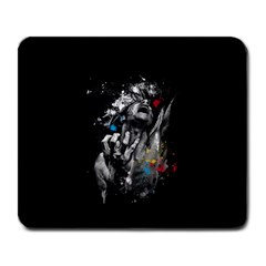 Man Rage Screaming  Large Mousepads by amphoto