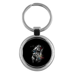 Man Rage Screaming  Key Chains (round)  by amphoto