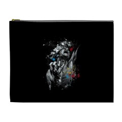 Man Rage Screaming  Cosmetic Bag (xl) by amphoto