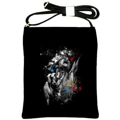 Man Rage Screaming  Shoulder Sling Bags by amphoto