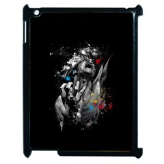 Man Rage Screaming  Apple Ipad 2 Case (black) by amphoto