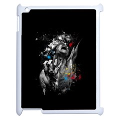 Man Rage Screaming  Apple Ipad 2 Case (white) by amphoto