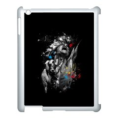 Man Rage Screaming  Apple Ipad 3/4 Case (white) by amphoto