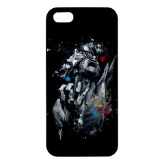 Man Rage Screaming  Iphone 5s/ Se Premium Hardshell Case by amphoto