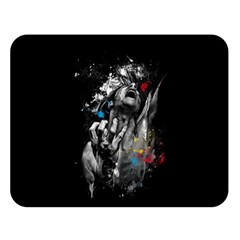 Man Rage Screaming  Double Sided Flano Blanket (large)  by amphoto