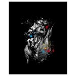 Man Rage Screaming  Drawstring Bag (Small) Front