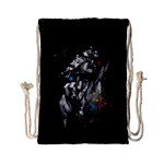 Man Rage Screaming  Drawstring Bag (Small) Back