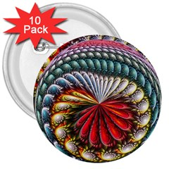 Circles Lines Background  3  Buttons (10 Pack)  by amphoto