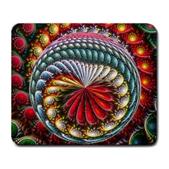 Circles Lines Background  Large Mousepads by amphoto