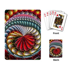 Circles Lines Background  Playing Card by amphoto