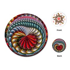 Circles Lines Background  Playing Cards (round)  by amphoto