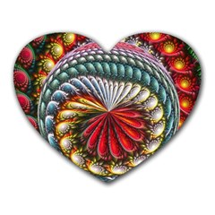 Circles Lines Background  Heart Mousepads by amphoto