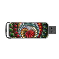 Circles Lines Background  Portable Usb Flash (two Sides) by amphoto