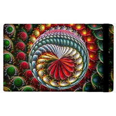 Circles Lines Background  Apple Ipad 3/4 Flip Case by amphoto