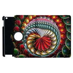 Circles Lines Background  Apple Ipad 3/4 Flip 360 Case by amphoto