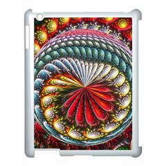 Circles Lines Background  Apple Ipad 3/4 Case (white) by amphoto