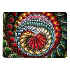 Circles Lines Background  Samsung Galaxy Tab 10 1  P7500 Flip Case by amphoto