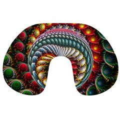 Circles Lines Background  Travel Neck Pillows by amphoto