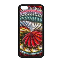 Circles Lines Background  Apple Iphone 5c Seamless Case (black) by amphoto