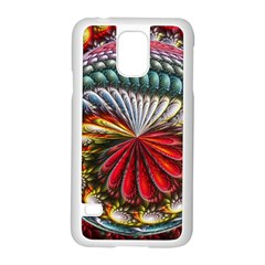 Circles Lines Background  Samsung Galaxy S5 Case (white) by amphoto