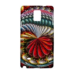 Circles Lines Background  Samsung Galaxy Note 4 Hardshell Case by amphoto