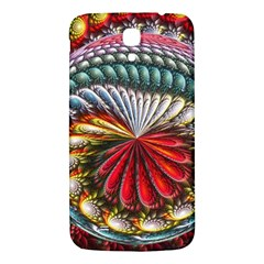 Circles Lines Background  Samsung Galaxy Mega I9200 Hardshell Back Case by amphoto