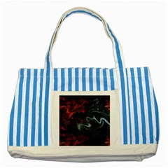 Lines Curves Background  Striped Blue Tote Bag by amphoto