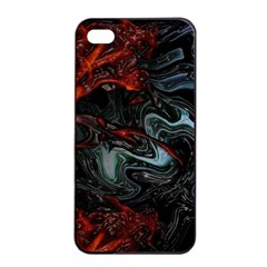 Lines Curves Background  Apple Iphone 4/4s Seamless Case (black) by amphoto
