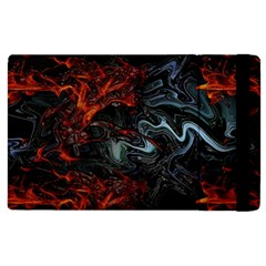 Lines Curves Background  Apple Ipad 3/4 Flip Case by amphoto