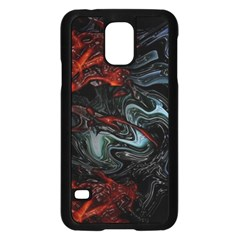 Lines Curves Background  Samsung Galaxy S5 Case (black) by amphoto